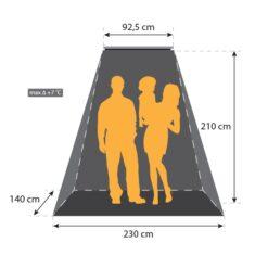 Terrasheater 1500 W + timer en afstandsbediening
