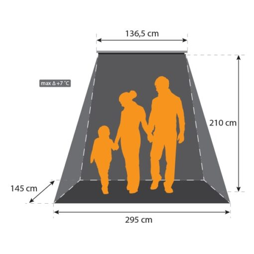 Terrasheater 2400 W + timer en afstandsbediening