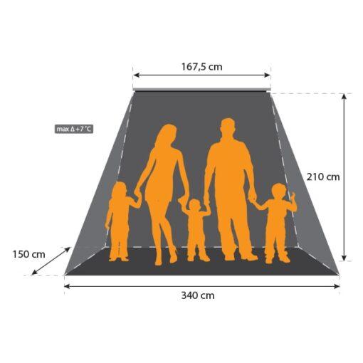 Terrasheater 3000 W + timer en afstandsbediening