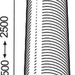 Afvoerslang flexibel aluminium Ø 125 mm 2,5 meter