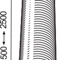 Afvoerslang flexibel aluminium Ø 150 mm 2,5 meter