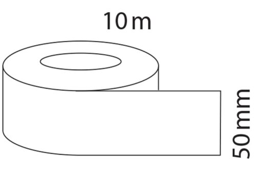 Afdichtingstape 10 meter pvc wit