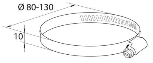 Slangklem 80-130 mm