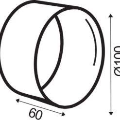 Rondkanaal Ø 100 mm verbinder voor slang