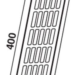 Ventilatierooster aluminium wit 400×80 mm