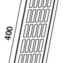 Ventilatierooster aluminium brons 400×80 mm