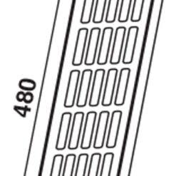 Ventilatierooster aluminium 480×80 mm