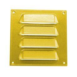 Schoepenrooster aluminium goudkleurig 70×70 mm