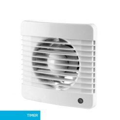 Badkamerventilator 100 mm Basic met timer – wit