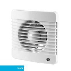 Badkamerventilator 125 mm Basic met timer – wit