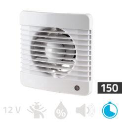 Badkamerventilator timer 150mm Basic