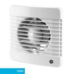 Badkamerventilator 150 mm Basic met timer – wit