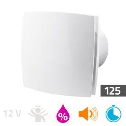 Badkamerventilator vochtsensor/timer 125mm Silent