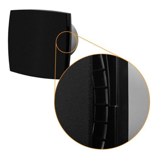 Badkamer ventilator vochtsensor/timer 100 mm mat zwart Silent