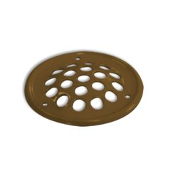 Rooster rond staal goudkleurig 50 mm