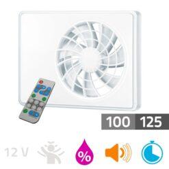 Badkamerventilator iFAN met afstandsbediening 100 – 125mm