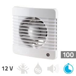 Badkamer ventilator 12V – 100 mm Timer