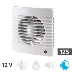 Badkamer ventilator 12V – Timer 125 mm