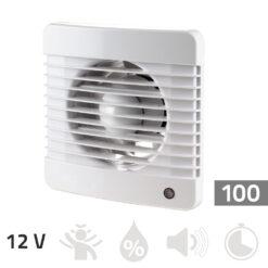 Badkamer ventilator 12V – 100 mm Basic
