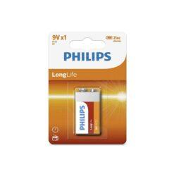 Batterij Philips Longlife 9V blokbatterij