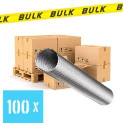 BULK 100x Slang flexibel aluminium Ø 100 mm 1 meter