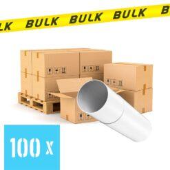 BULK 100x Rondkanaal Ø 100 mm luchtbuis telescopisch 300-500 mm