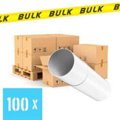 BULK 100x Rondkanaal Ø 125 mm luchtbuis telescopisch 300-500 mm