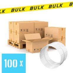BULK 100x Rondkanaal Ø 100 mm buisverbinder staal