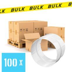 BULK 100x Rondkanaal Ø 125 mm buisverbinder staal