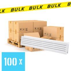 BULK 100x Deurrooster wit 453×90 mm