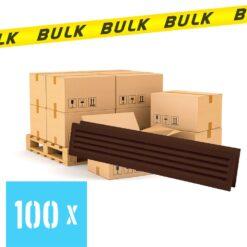 BULK 100x Deurrooster bruin 453×90 mm