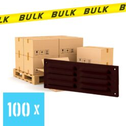 BULK 100x Meubelrooster bruin 205×80 mm