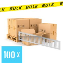 BULK 100x Ventilatierooster aluminium 400×80 mm
