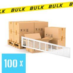 BULK 100x Ventilatierooster aluminium wit 400×80 mm