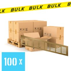 BULK 100x Ventilatierooster aluminium brons 400×80 mm