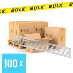 BULK 100x Ventilatierooster aluminium 480×80 mm
