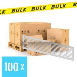 BULK 100x Ventilatierooster aluminium 400×100 mm