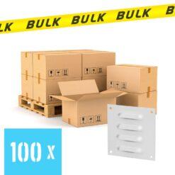 BULK 100x Schoepenrooster aluminium wit 70×70 mm