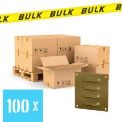 BULK 100x Schoepenrooster aluminium bronskleurig 70×70 mm