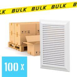 BULK 100x Rooster kunststof met vliegengaas wit 180×250 mm