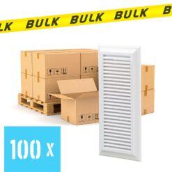 BULK 100x Rooster kunststof met vliegengaas wit 140×300 mm
