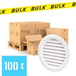 BULK 100x Rooster rond kunststof wit Ø 100 mm