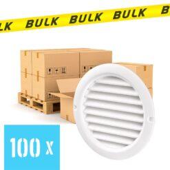 BULK 100x Rooster rond kunststof wit Ø 125 mm
