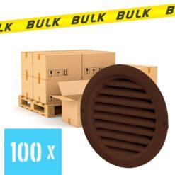 BULK 100x Rooster rond kunststof bruin Ø 125 mm