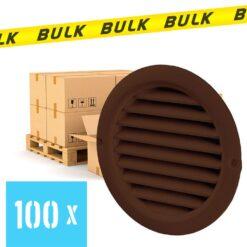 BULK 100x Rooster rond kunststof bruin Ø 150 mm