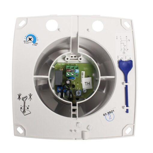 Badkamerventilator met vochtsensor/timer 100mm Silent – wit